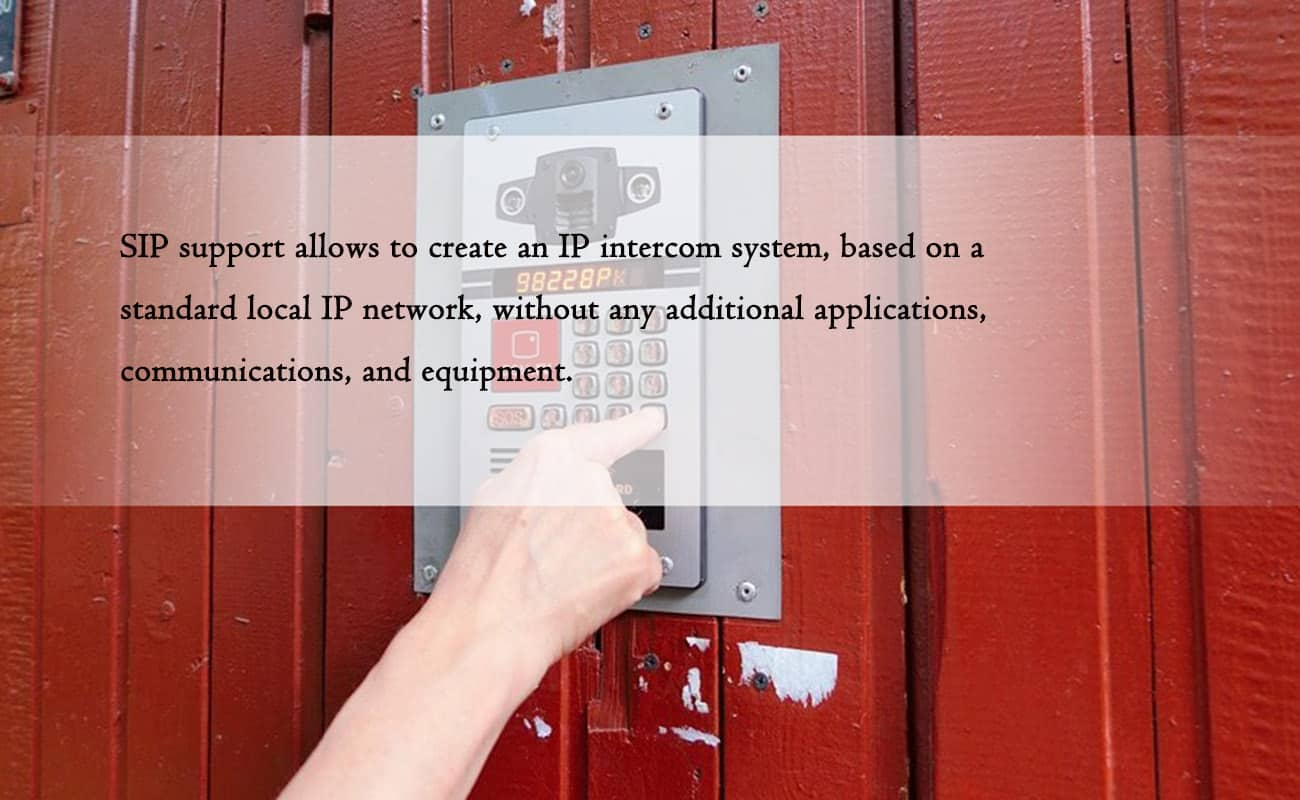 IP Video Intercom for Apartment with SIP Protocol